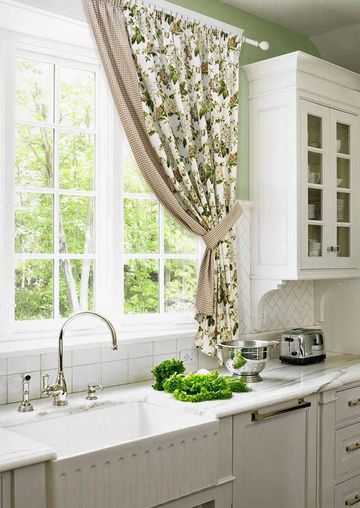 дизайн штор для кухни белого цвета фото видео